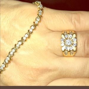 Jewelry - 14k solid gold with 52 stunning diamonds 2.8 cts.